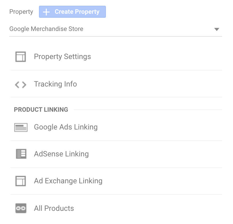 Linking products to Google Analytics