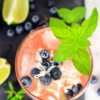 Blueberry Coconut Mojito