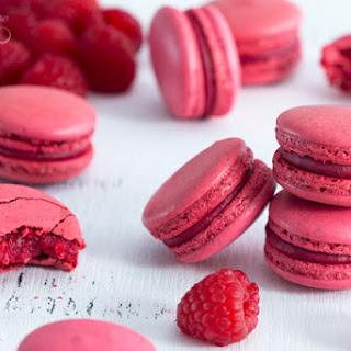 Raspberry Macarons - Italian Meringue.