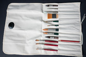 Photo: Tran Natural Canvas Artist Paint Brush Roll Up - http://www.parkablogs.com/node/10924