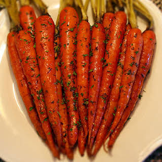Honey and Herb Oven Roasted Carrots.