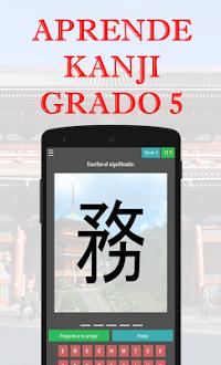 Aprende Kanji Grado 5 Gratis