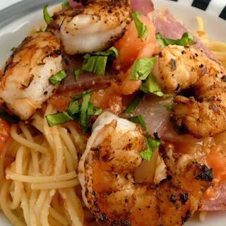 Pasta with Grilled Vegetables & Shrimp