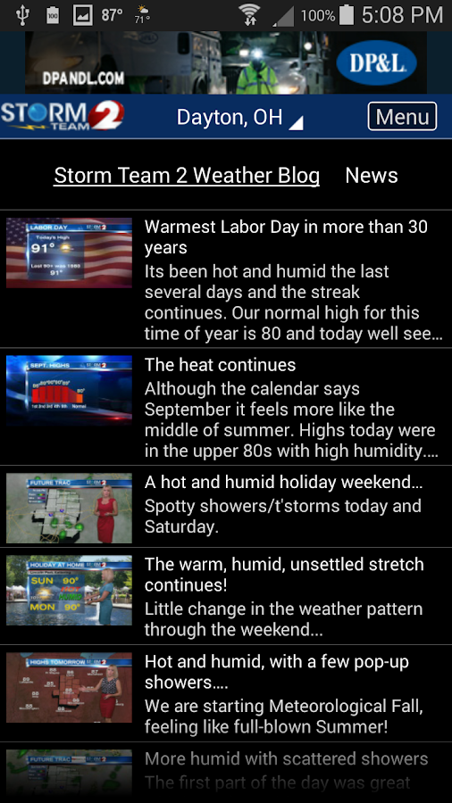 WDTN Weather- screenshot