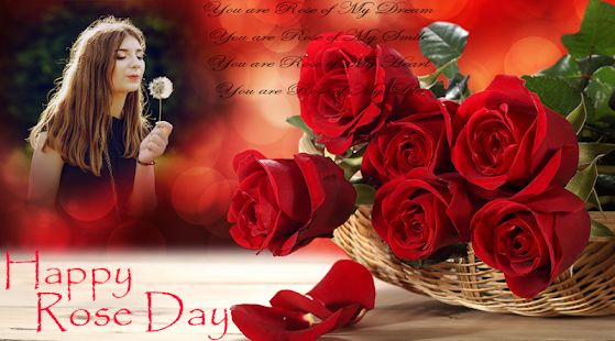 Rose Day Photo Frame - náhled