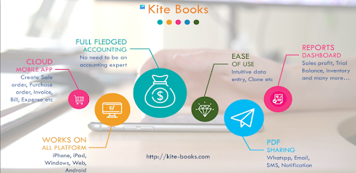 Free Invoice Inventory management app - Kite Books – Apps no