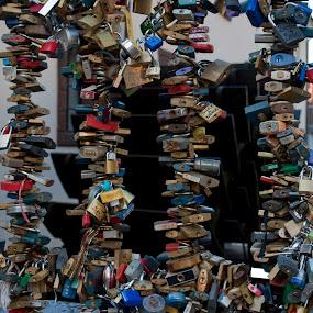 Locked by Doram Jacoby - City,  Street & Park  Street Scenes ( lock, bridge, prague, weel )