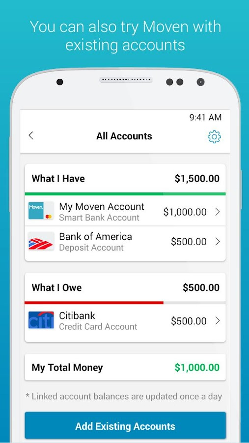 Moven - Smart Finances- screenshot