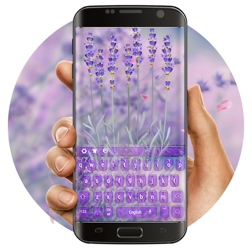 Purple Lavender Love Keyboard