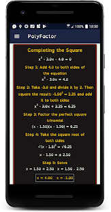 Quadratic Calculator Screenshot