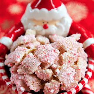 White Chocolate Candy Cane Chex Mix.