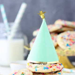 Strawberry Funfetti Cake Mix Cookies