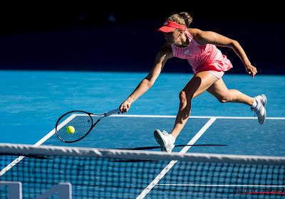 Elise Mertens begon uitstekend aan wedstrijd, maar moet eerste set aan Karolina Muchova laten