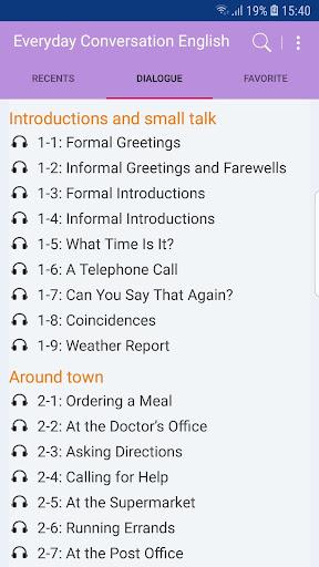 Everyday Conversation English screenshot 1