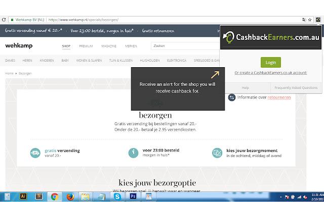 CashbackEarners_com_au Alertbar