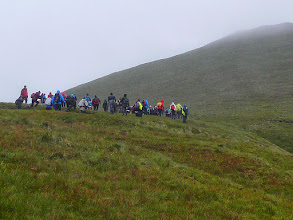 Photo: Beginning the climb of Galtybeag on the Galtee Crossing