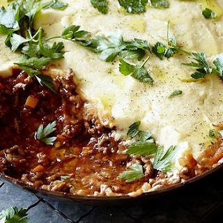 Shepherd's Pie With Cauliflower Mash.