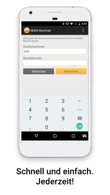 IBAN-Rechner – Android-Apps auf Google Play  IBAN-Rechner �...
