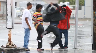 Photo: Image still from Turf Feinz video by Yak Films on p. 16 of Oakland in Popular Memory. Watch video here: http://youtu.be/JQRRnAhmB58