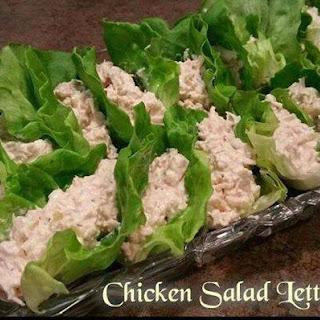 Keto Chicken Salad Lettuce Tacos.