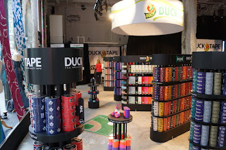 Photo: After Duane Reade, I went to the Duck Tape pop-up shop in the Fashion District. It is amazing!