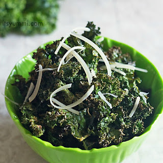 Spicy Parmesan Kale Chips