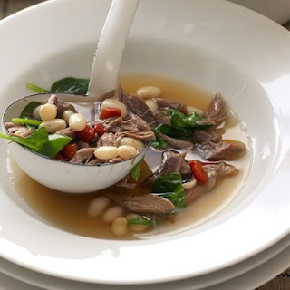 Hearty Lamb And White Bean Soup.