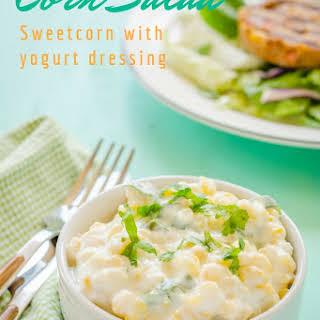 Corn Salad with Yogurt Dressing ~ Corn Raita.