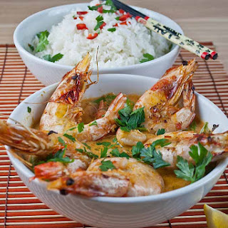 Thai Red Prawn Curry with Jasmine Rice.