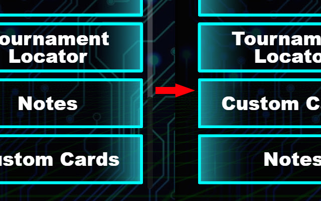 Swap Notes and Custom Card button