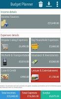 Screenshot of Budget Planner Pro