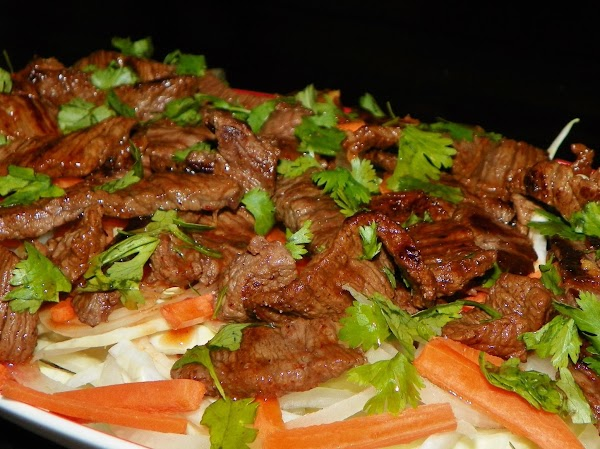 Crispy Thai Beef Salad & Ginger-lime Dressing - Ww Recipe