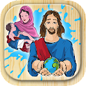 Bible coloring book icon