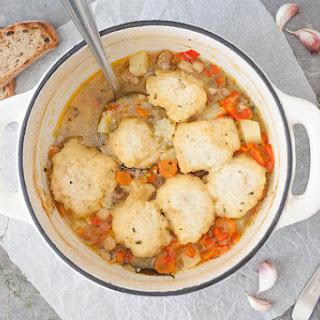 Chicken Stew with Fluffy Dumplings.