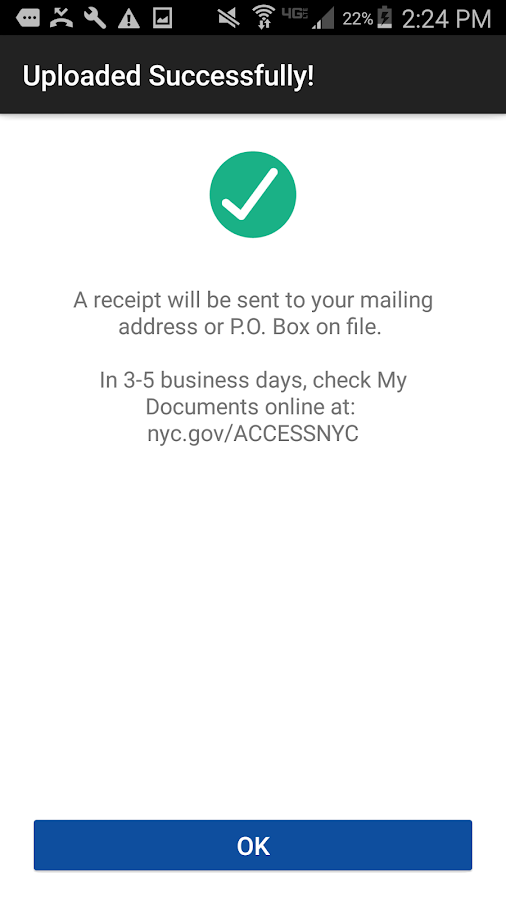 NYC HRA Document Upload- screenshot