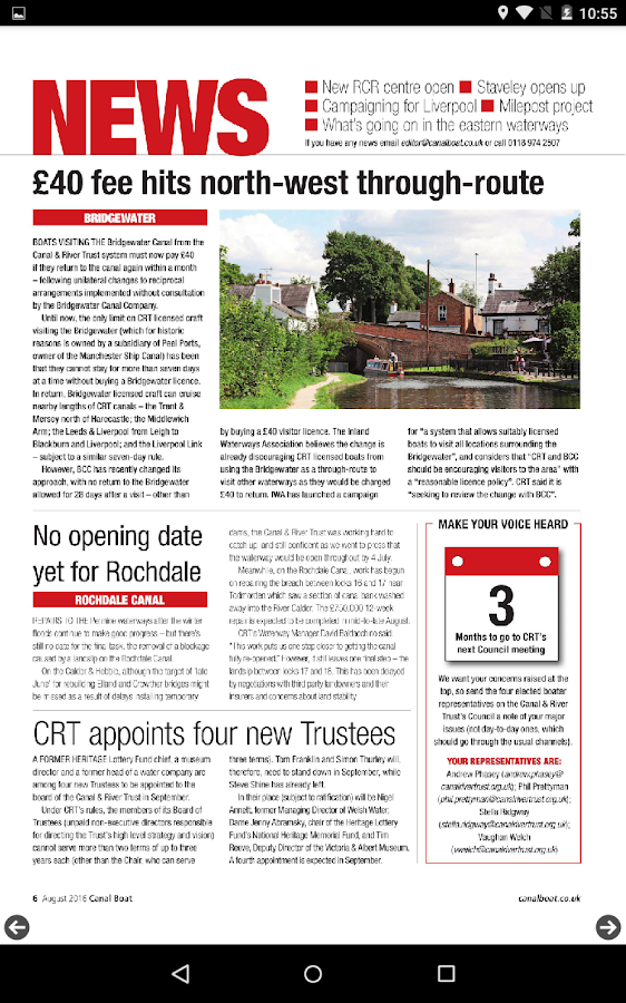 Canal Boat Magazine- screenshot