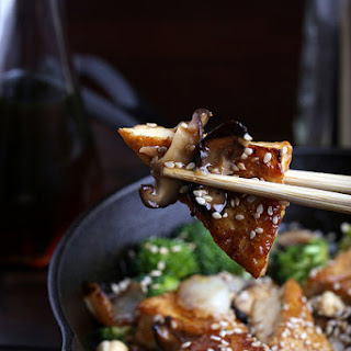 Sweet and Sticky Cashew Tofu.