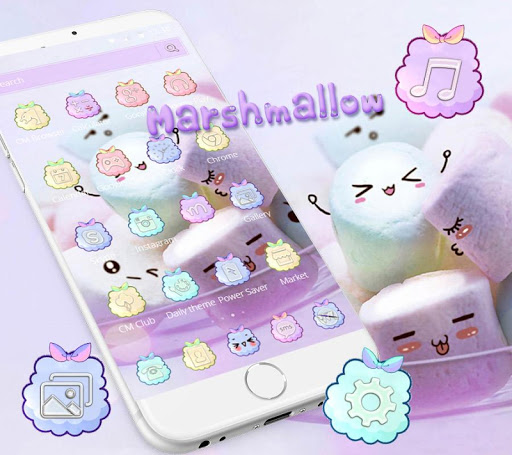 Marshmallow Candy Theme Icon Pack ss1