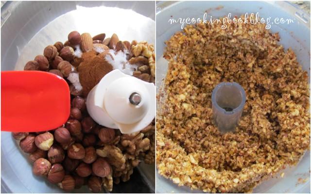 Кадаиф с лешници, бадеми и орехи