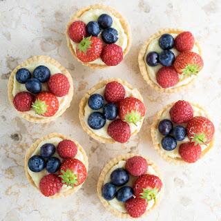 Lemon & White Chocolate Fruit Tarts.