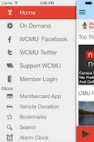 Screenshot of WCMU Public Radio App