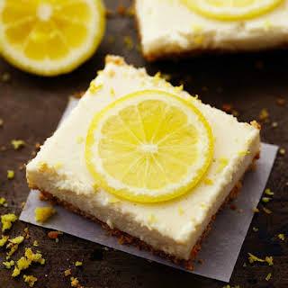 Skinny Lemon Icebox Bars.