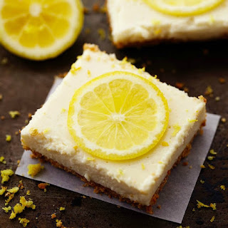 Skinny Lemon Icebox Bars.