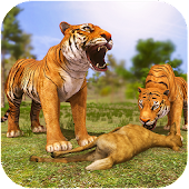 Angry Tiger Family Sim City Attack