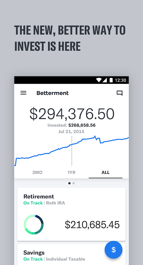 Betterment- screenshot