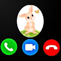 Fake Call From Easter Bunny Prank Simulator icon