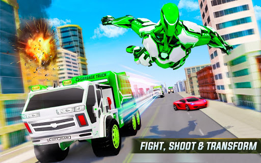 Flying Garbage Truck Robot Transform: Robot Games modavailable screenshots 8