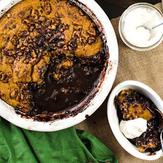 Chocolate and Pumpkin Self Saucing Pudding Cake