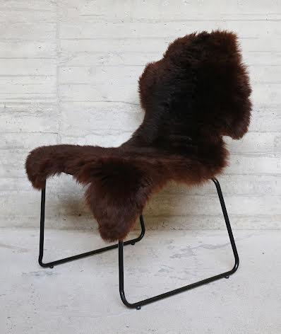 Fårskinn brun 100-120cm