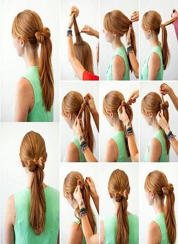 ステップバイステップの髪(メス)